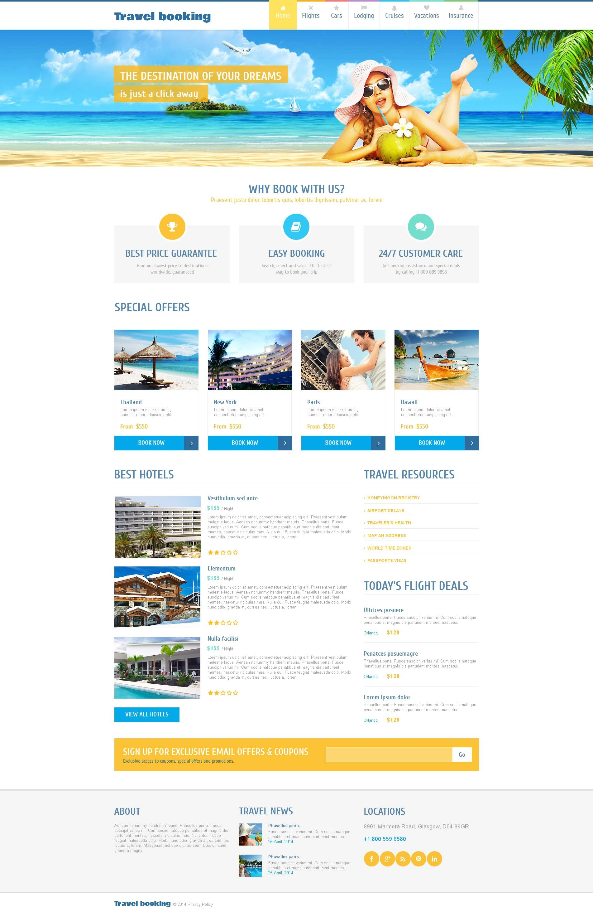 Template Monster  Airline Ticket Template Free