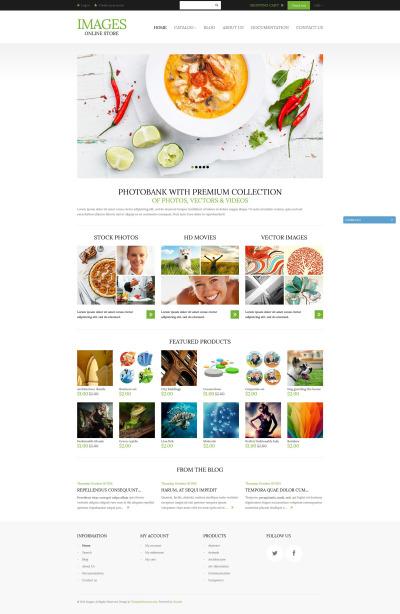 Stock Photo Responsive Shopify шаблон