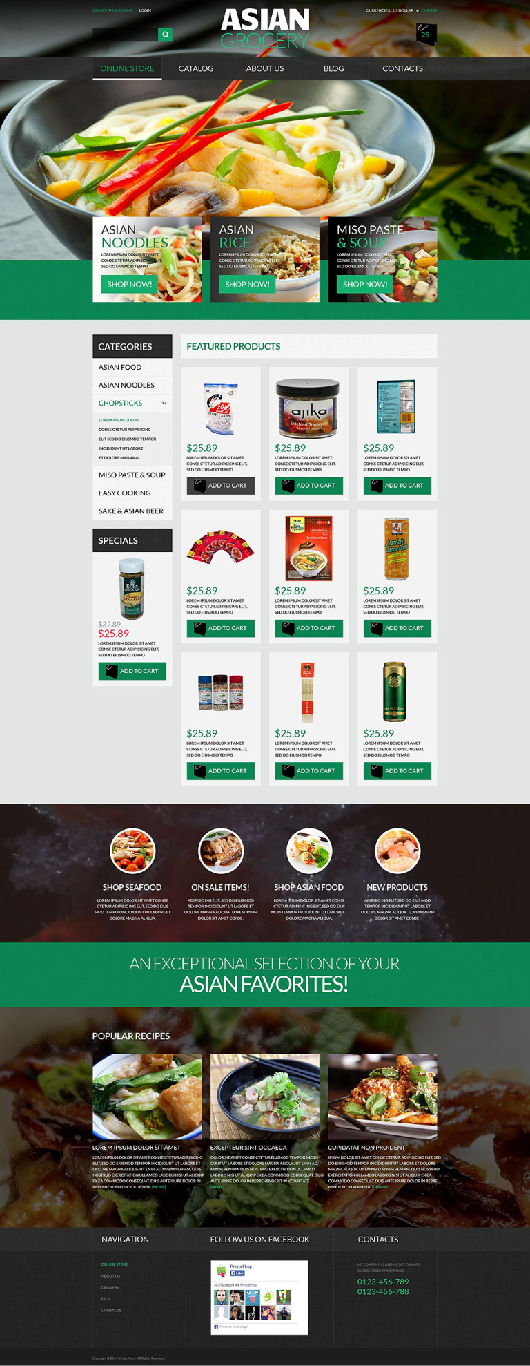 Asian Grocery Store VirtueMart Template New Screenshots BIG