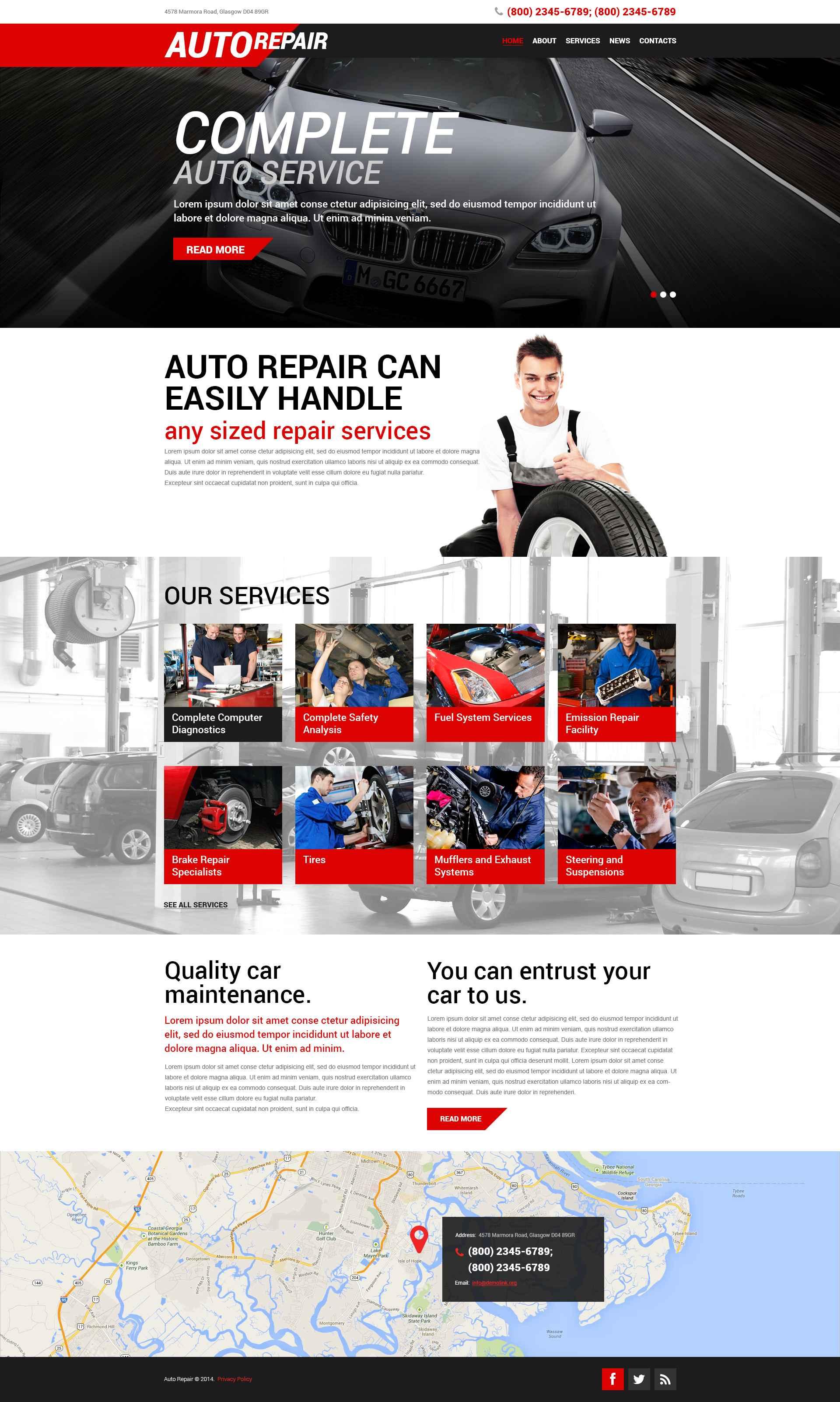 """Auto Repair Service"" thème WordPress adaptatif #51907"