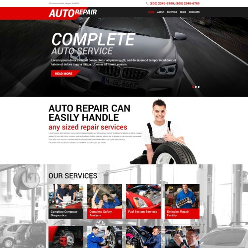 Auto Repair - WordPress Template based on Bootstrap