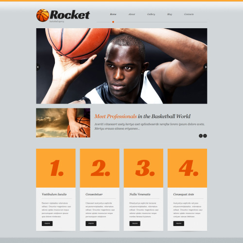 Rocket - WordPress Template based on Bootstrap