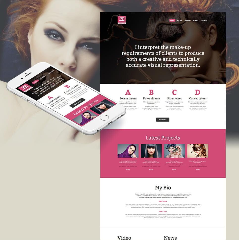 Beauty School Moto CMS HTML Template New Screenshots BIG