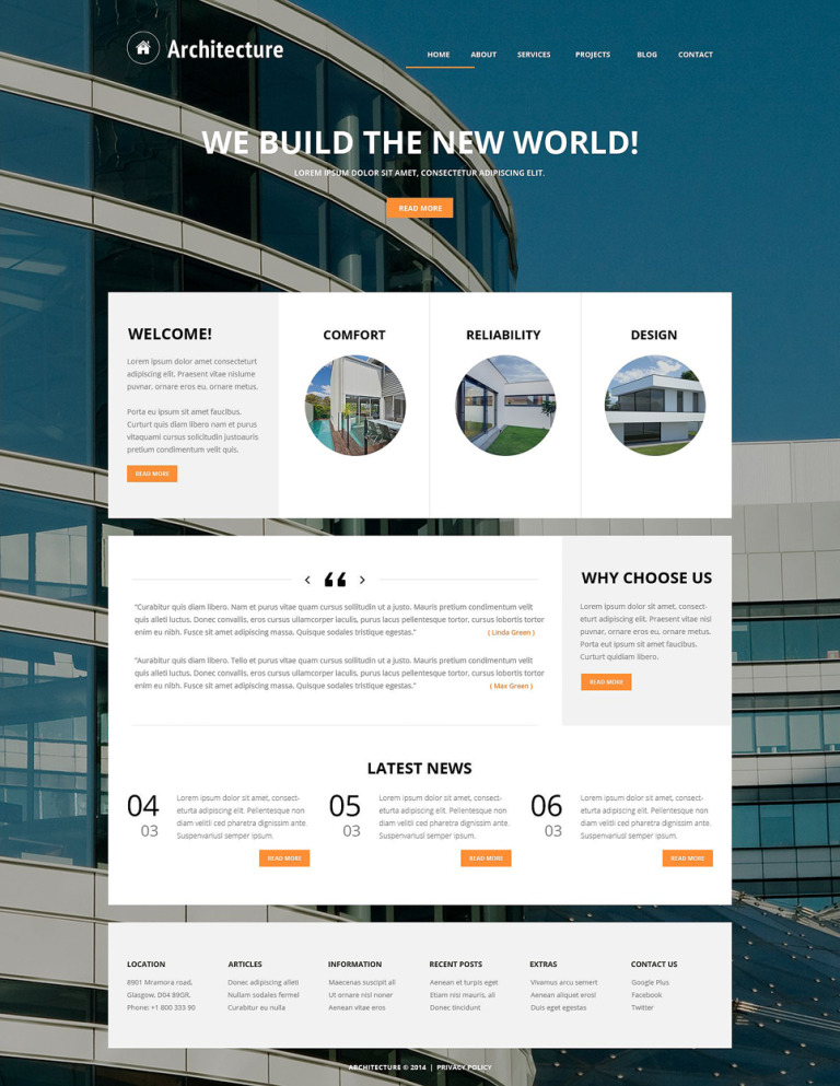 Building Art Joomla Template New Screenshots BIG