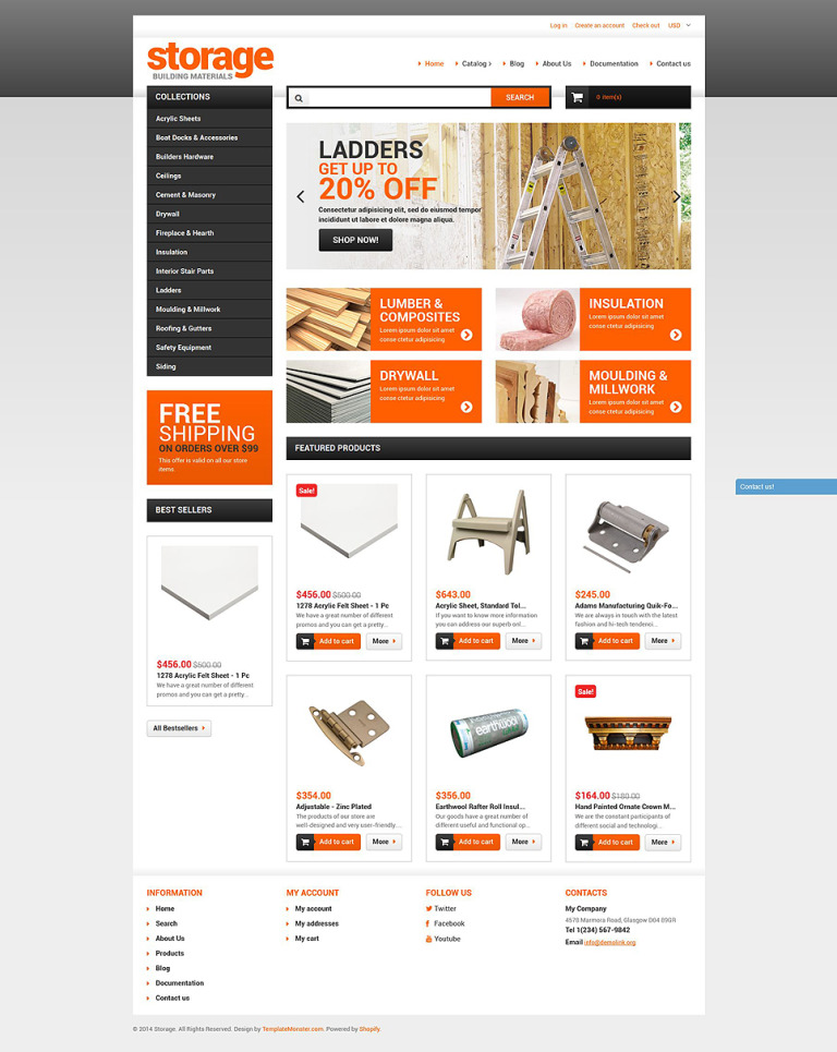 Building Materials Shopify Theme New Screenshots BIG
