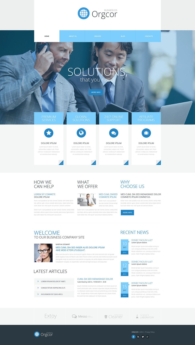 Business Promotion WordPress Theme New Screenshots BIG