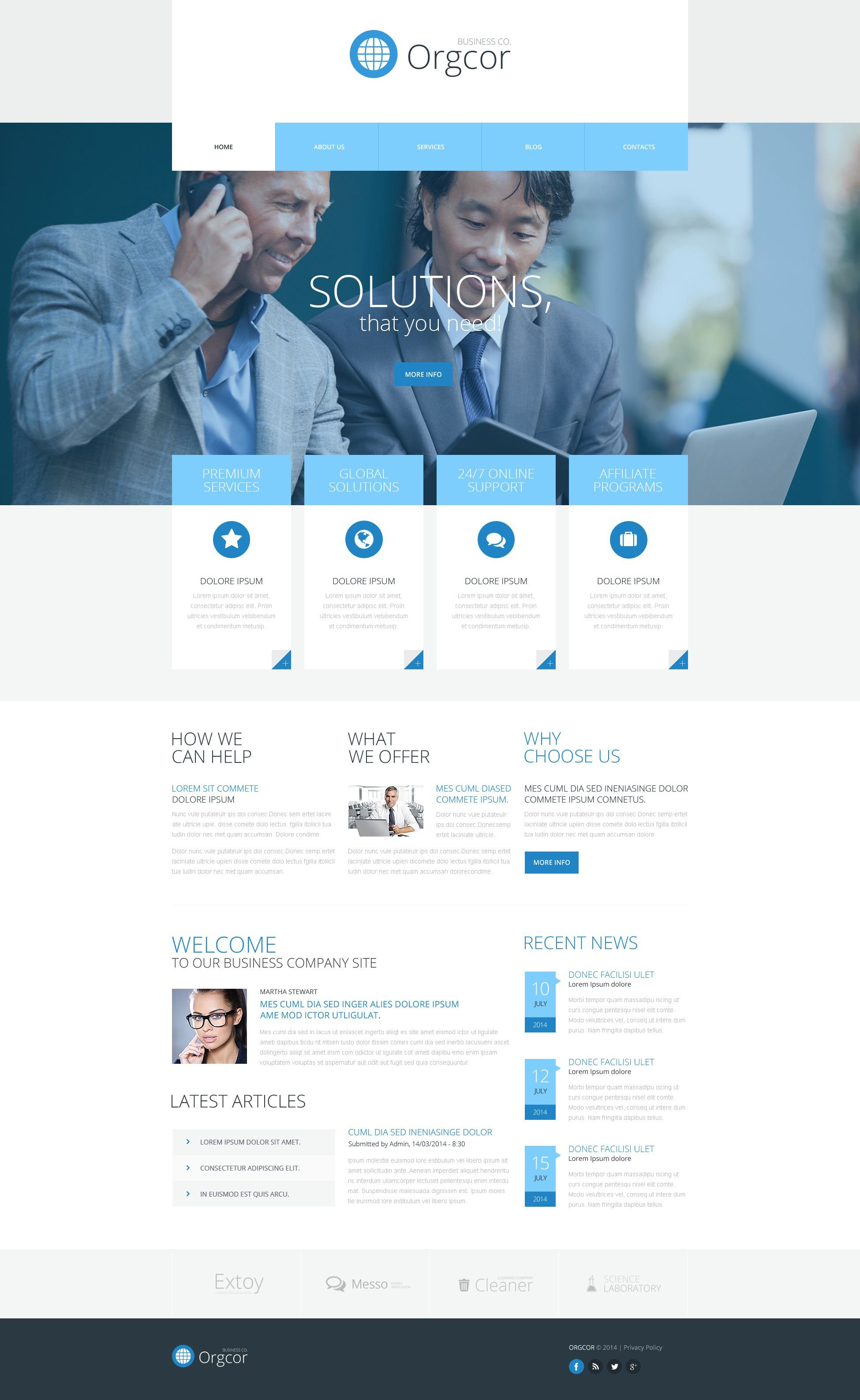 Business Promotion WordPress Theme - screenshot