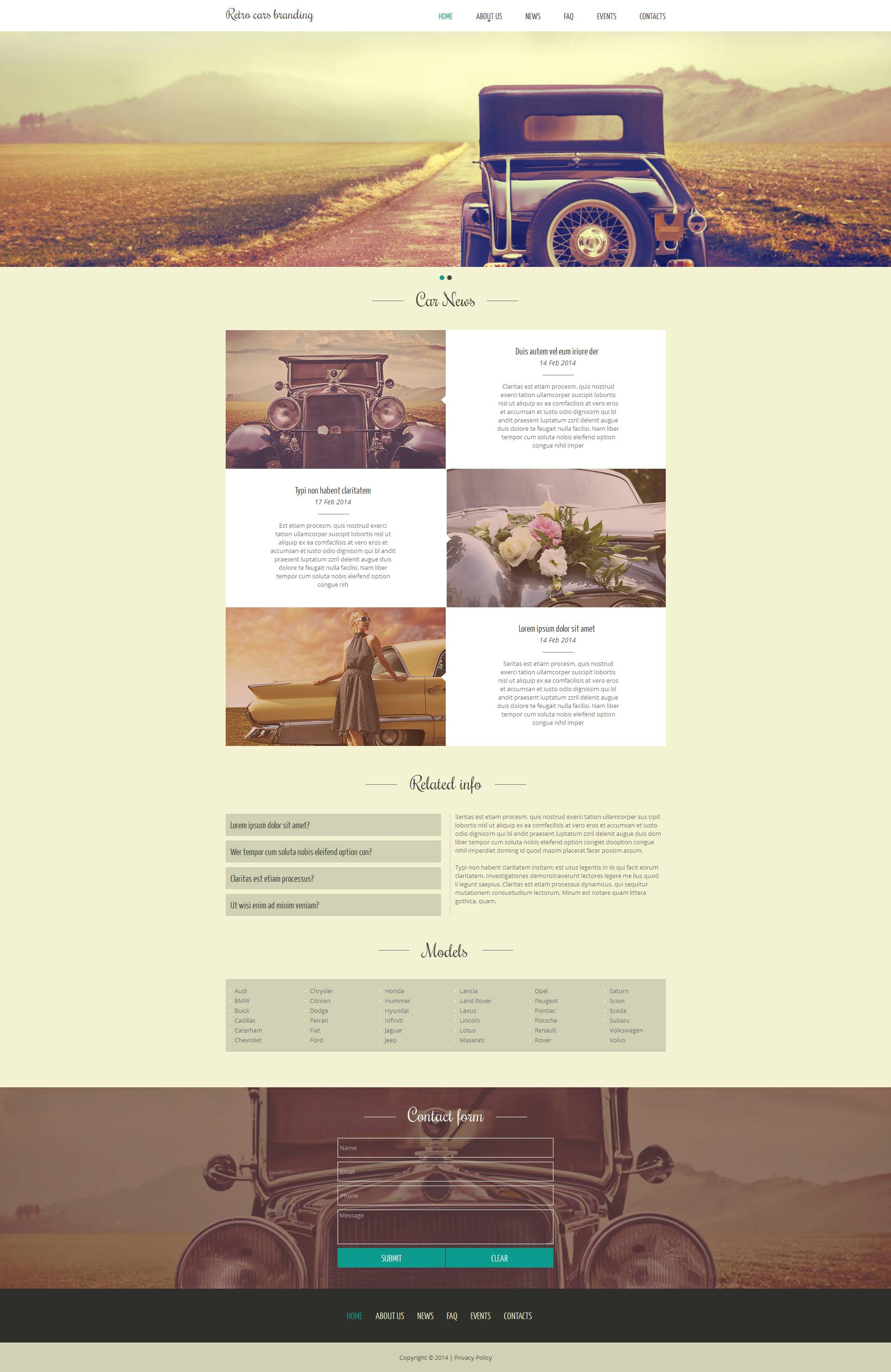 Car Club Moto CMS HTML Template