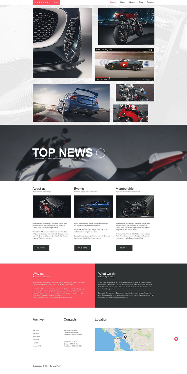 Car Racing Responsive Website Template New Screenshots BIG