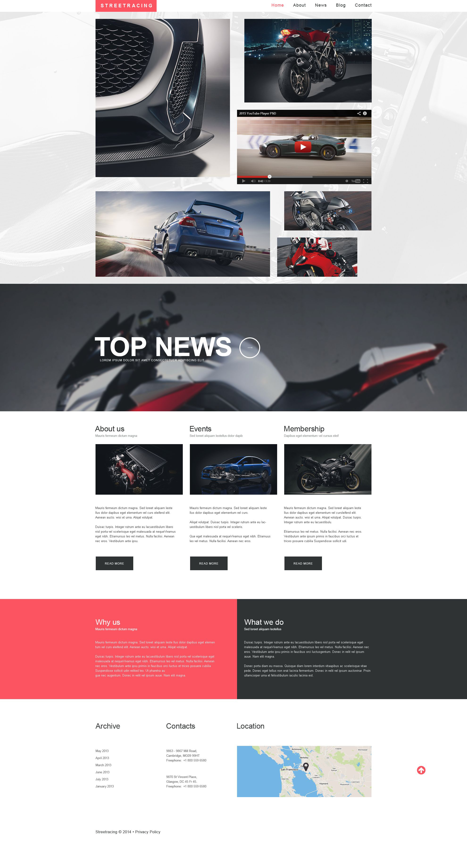 Car Racing Responsive Website Template - screenshot