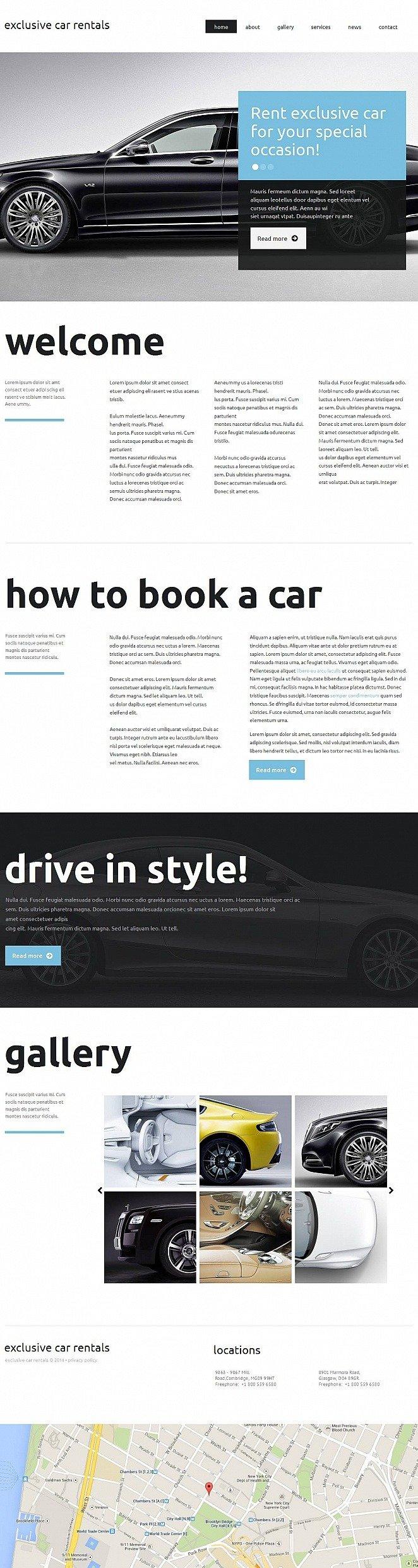 Car Rental Moto CMS HTML Template New Screenshots BIG
