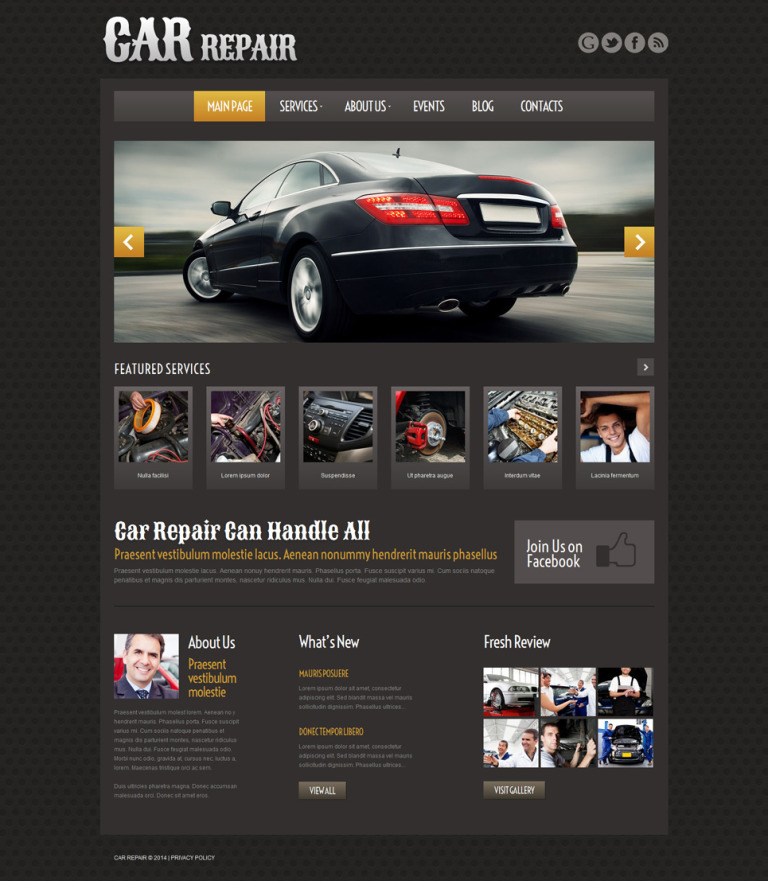 Car Repair Responsive WordPress Theme New Screenshots BIG