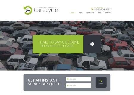 Car Scrap Yard Responsive