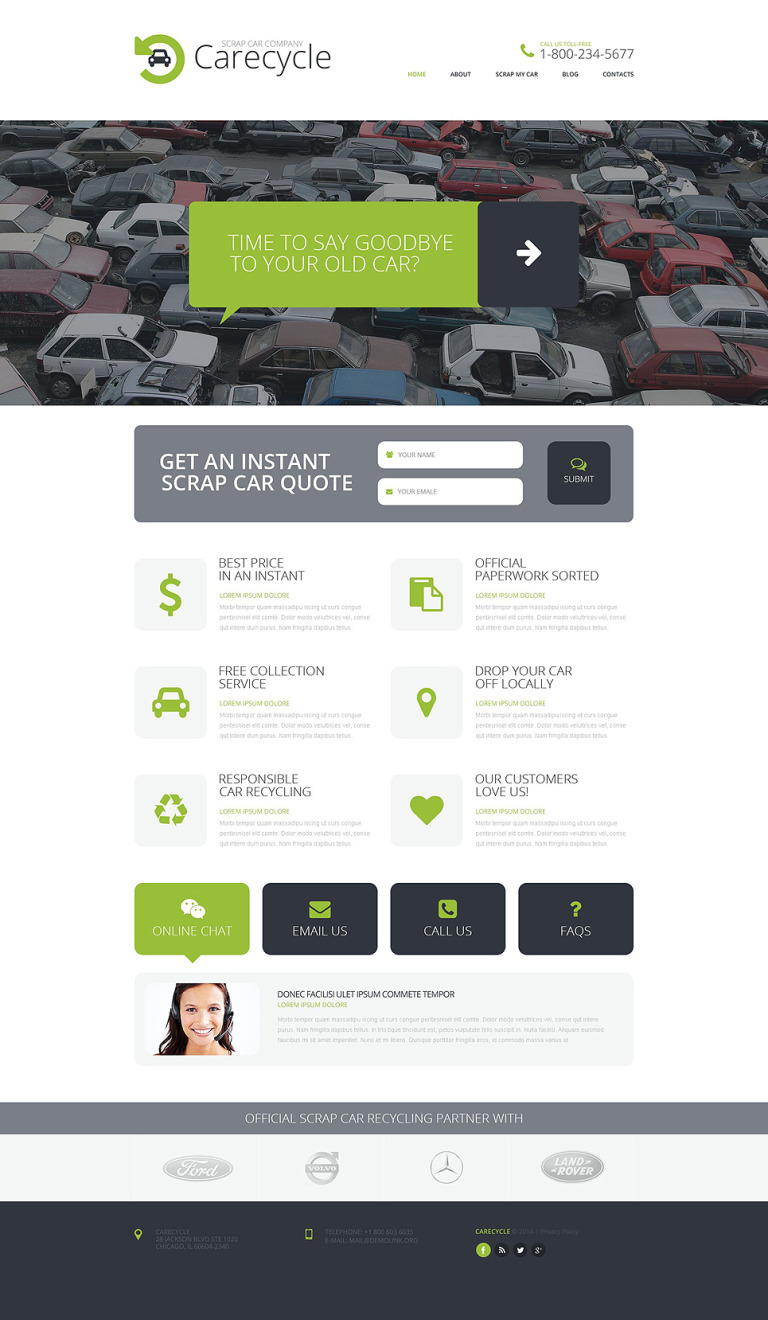 Car Scrap Yard Responsive Website Template New Screenshots BIG