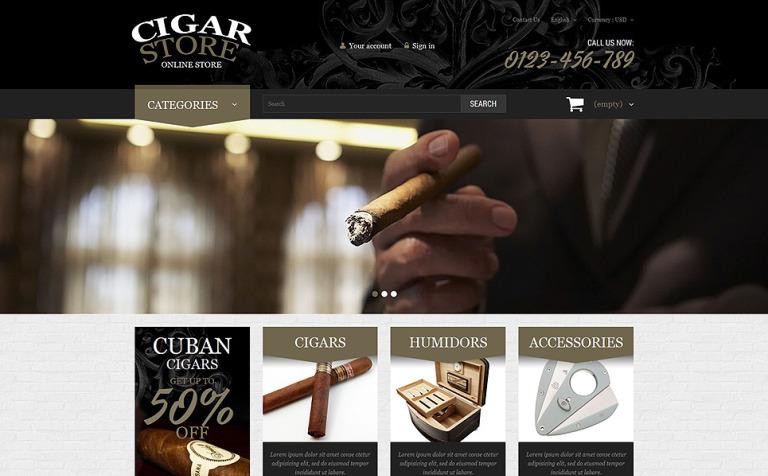 Cigar Smoking Diversion PrestaShop Theme
