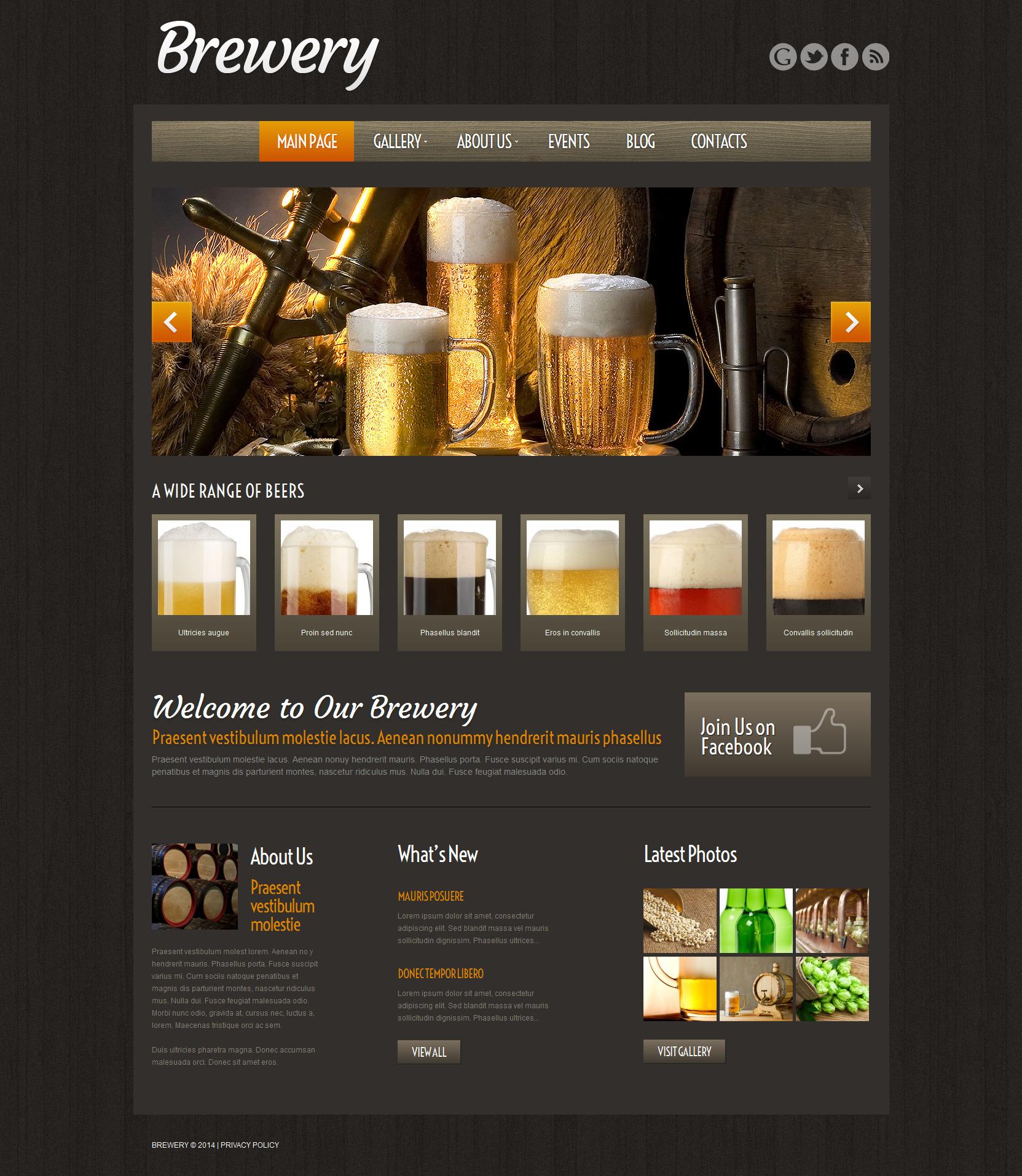 """Craft Beer"" - адаптивний WordPress шаблон №51974"