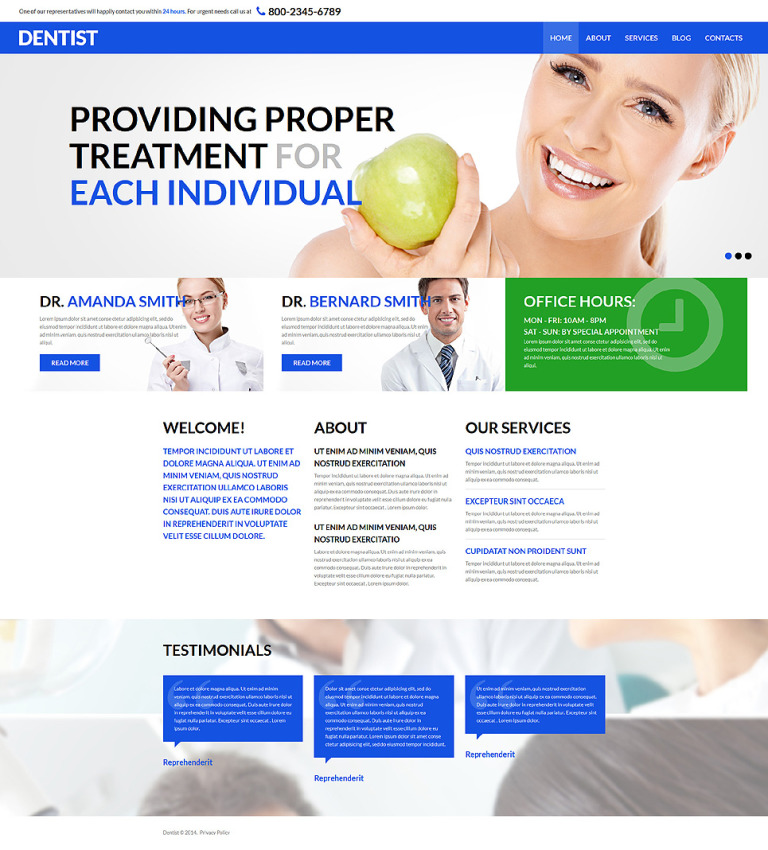 Dental Health and Care Joomla Template New Screenshots BIG