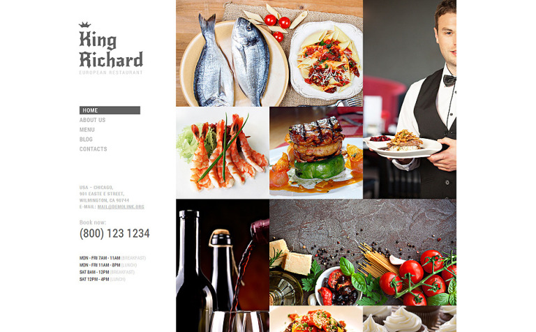 European Meal Joomla Template