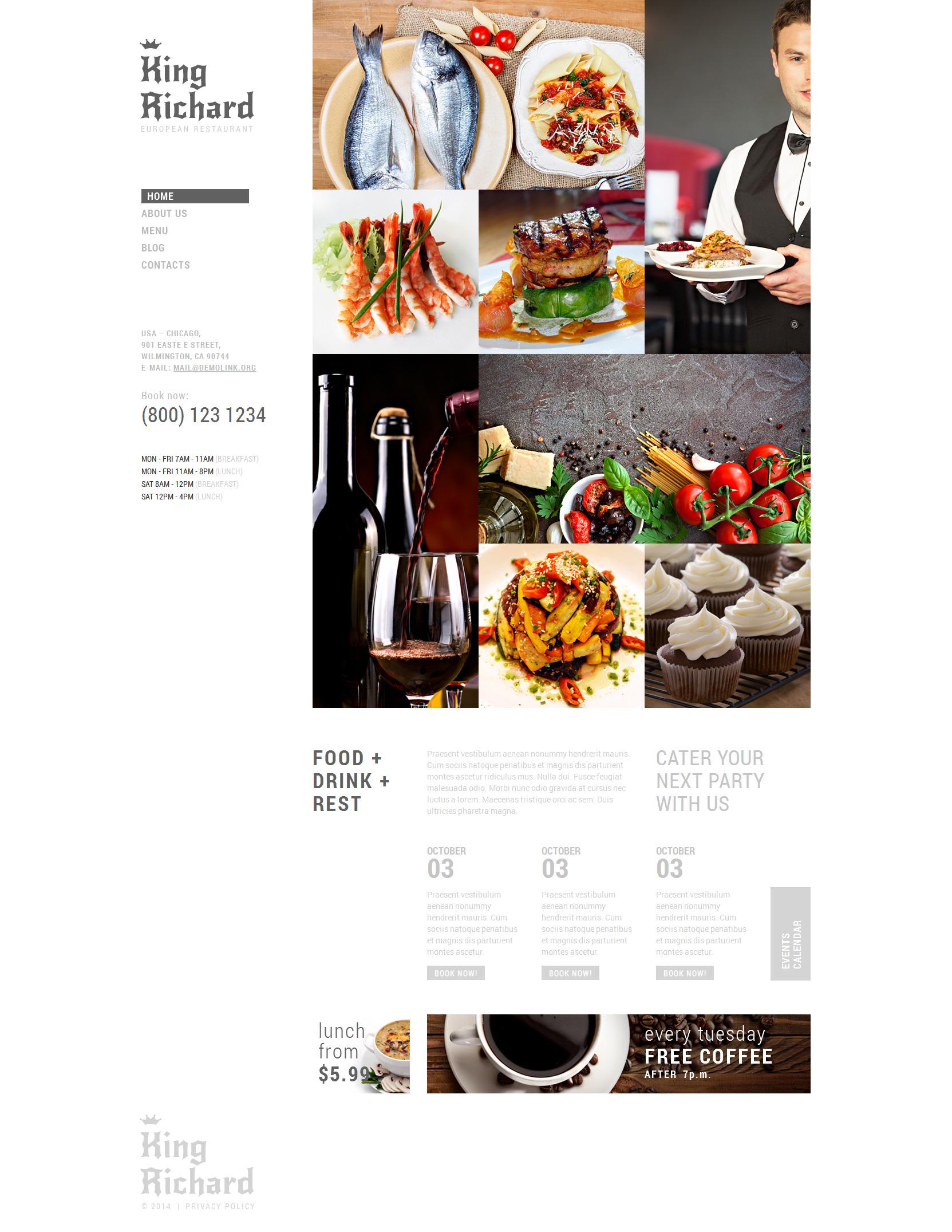 European Meal Joomla Template - screenshot
