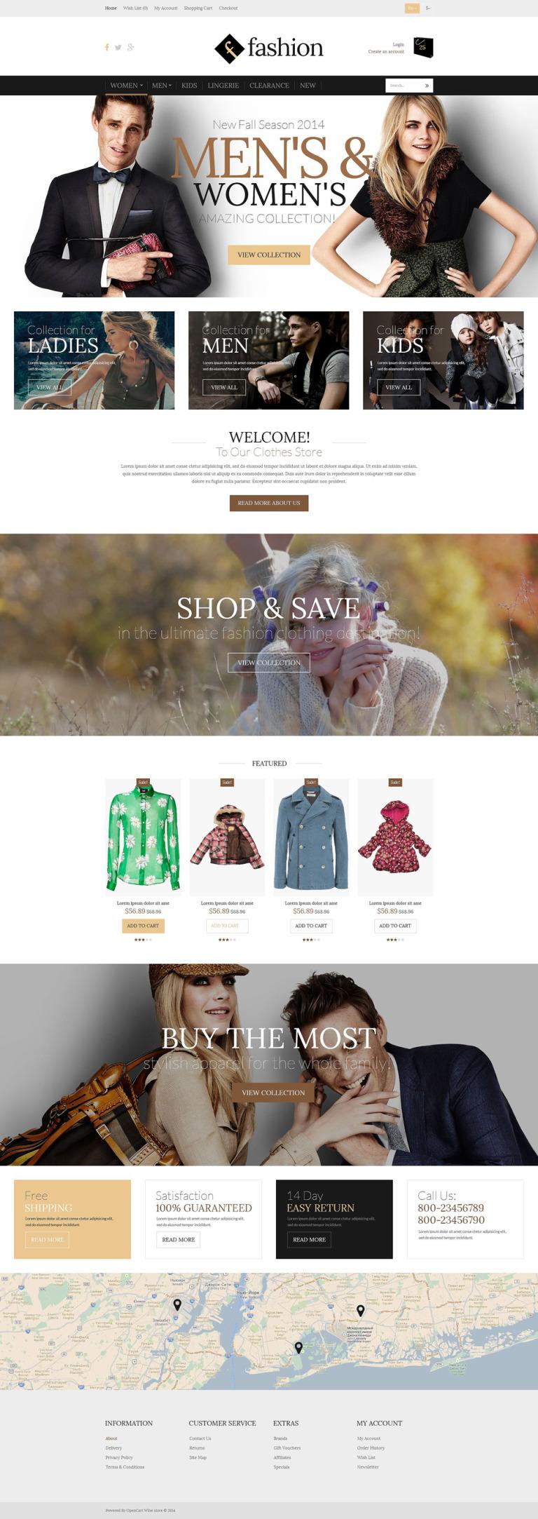 Fashion Board OpenCart Template New Screenshots BIG