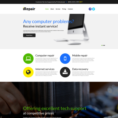 IRepair - Joomla! Template based on Bootstrap