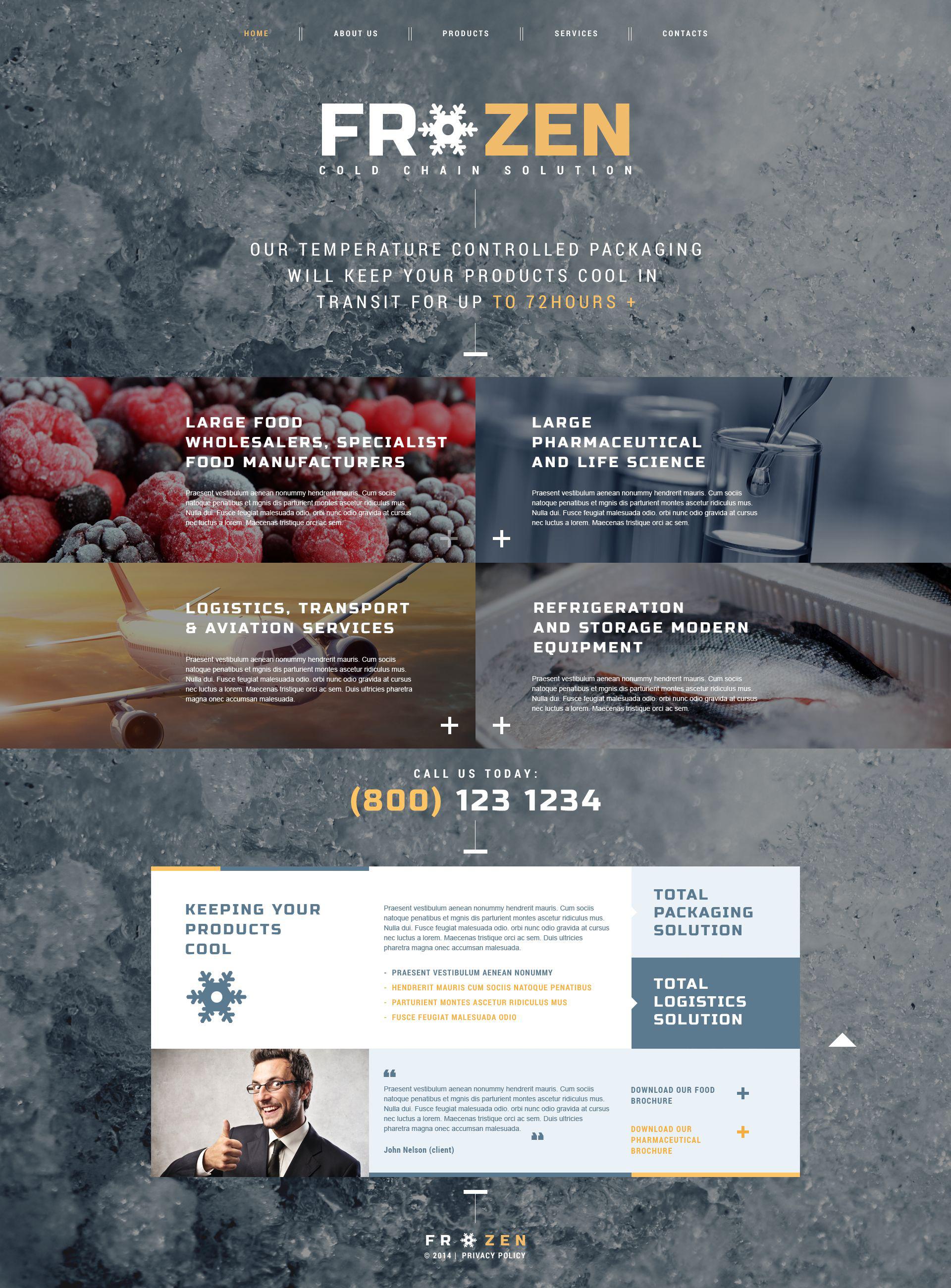 Frozen Food Responsive Website Template - screenshot