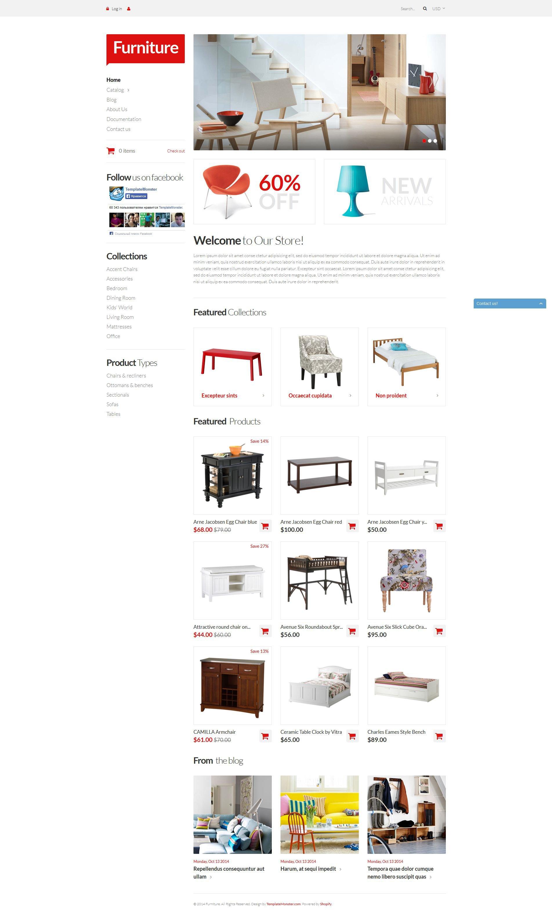 Furniture Pieces Shopify Theme - screenshot