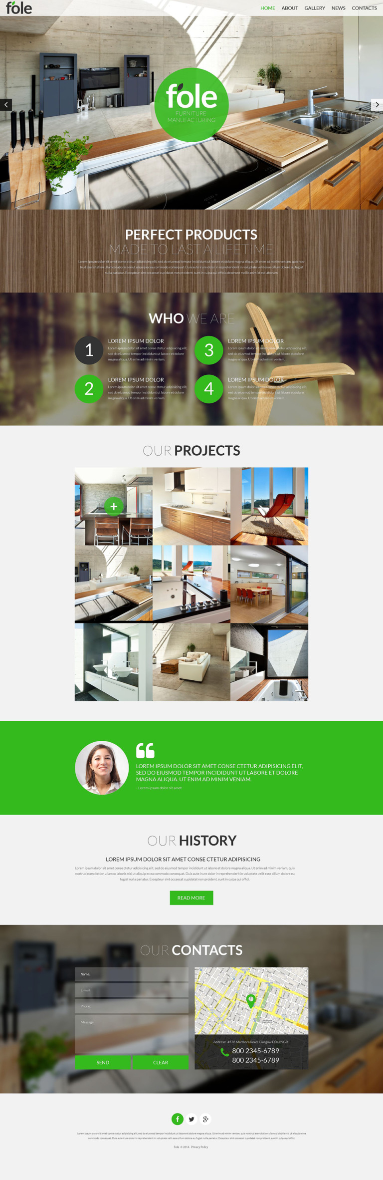 Furniture Responsive Website Template New Screenshots BIG