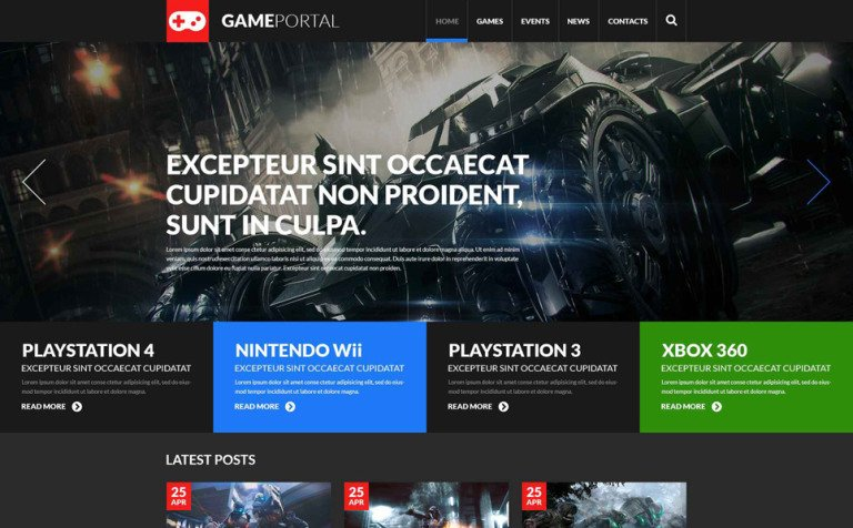 Gaming Fan Board WordPress Theme
