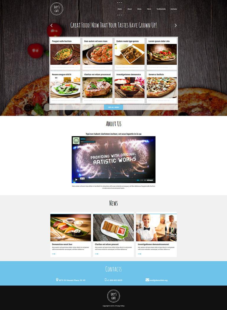 Gourmet Cuisine Restaurant Joomla Template New Screenshots BIG