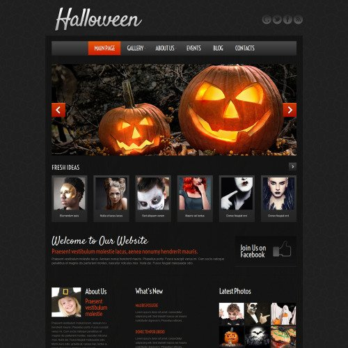 Halloween - WordPress Template based on Bootstrap