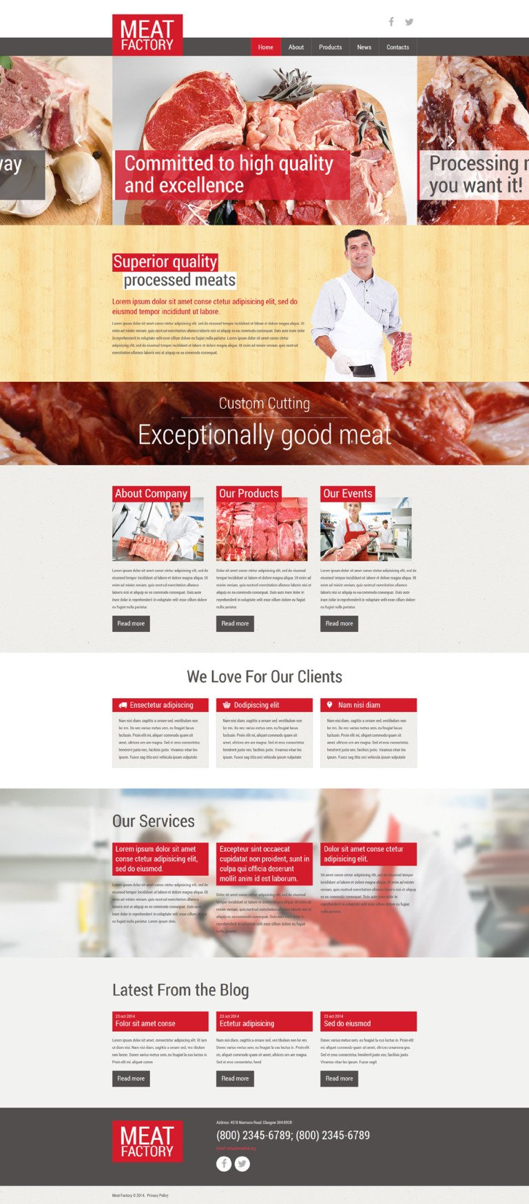 Healthy Meat Factory Joomla Template New Screenshots BIG