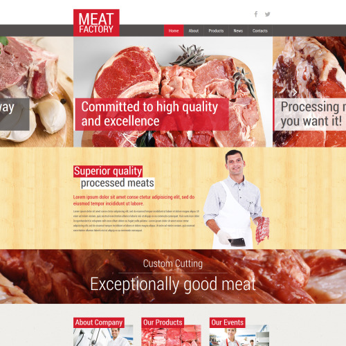 Meat Factory - Joomla! Template based on Bootstrap