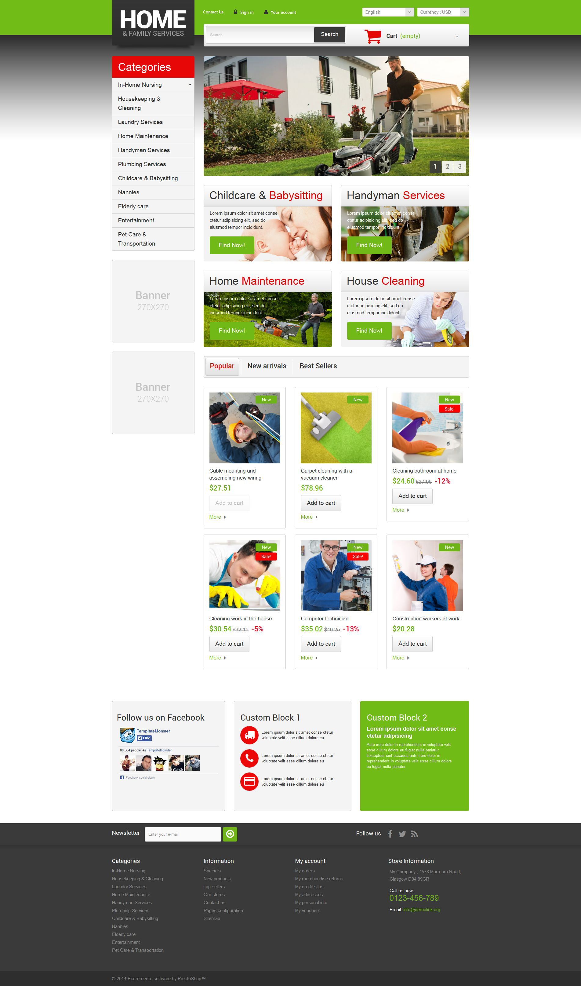 Home  Family Services PrestaShop Theme