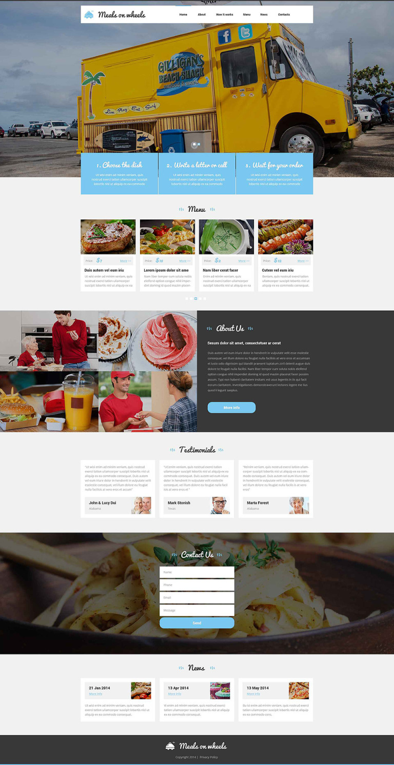 Home Food Delivery Joomla Template New Screenshots BIG