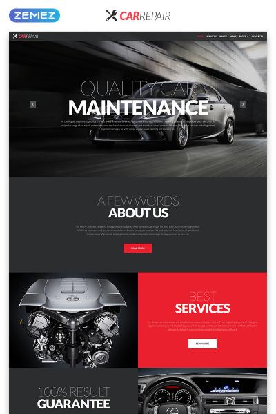 Адаптивный HTML шаблон №51928 на тему ремонт авто