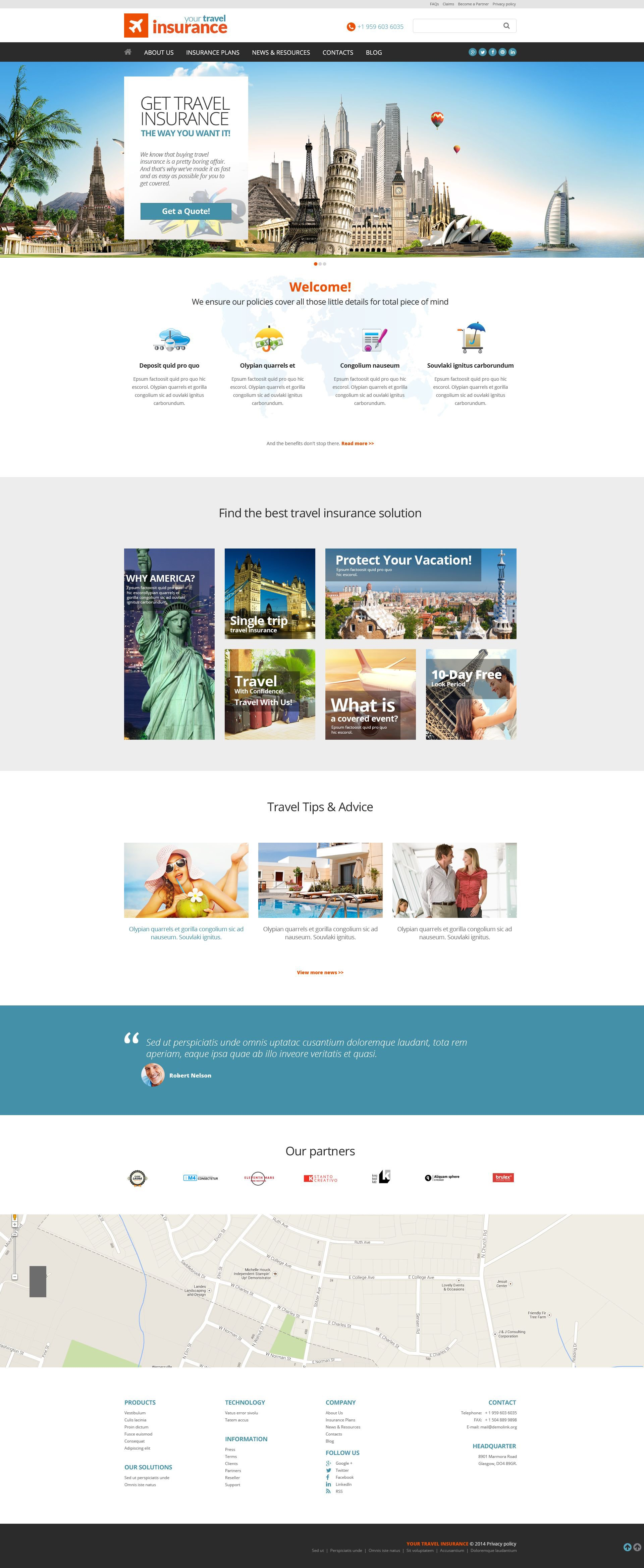 Insurance Website Templates