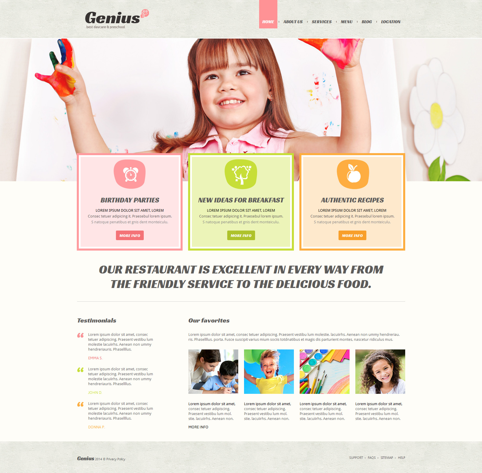 Preschool children education joomla template for kindergarten.
