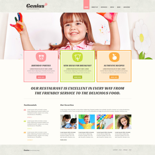 Genius - Joomla! Template based on Bootstrap