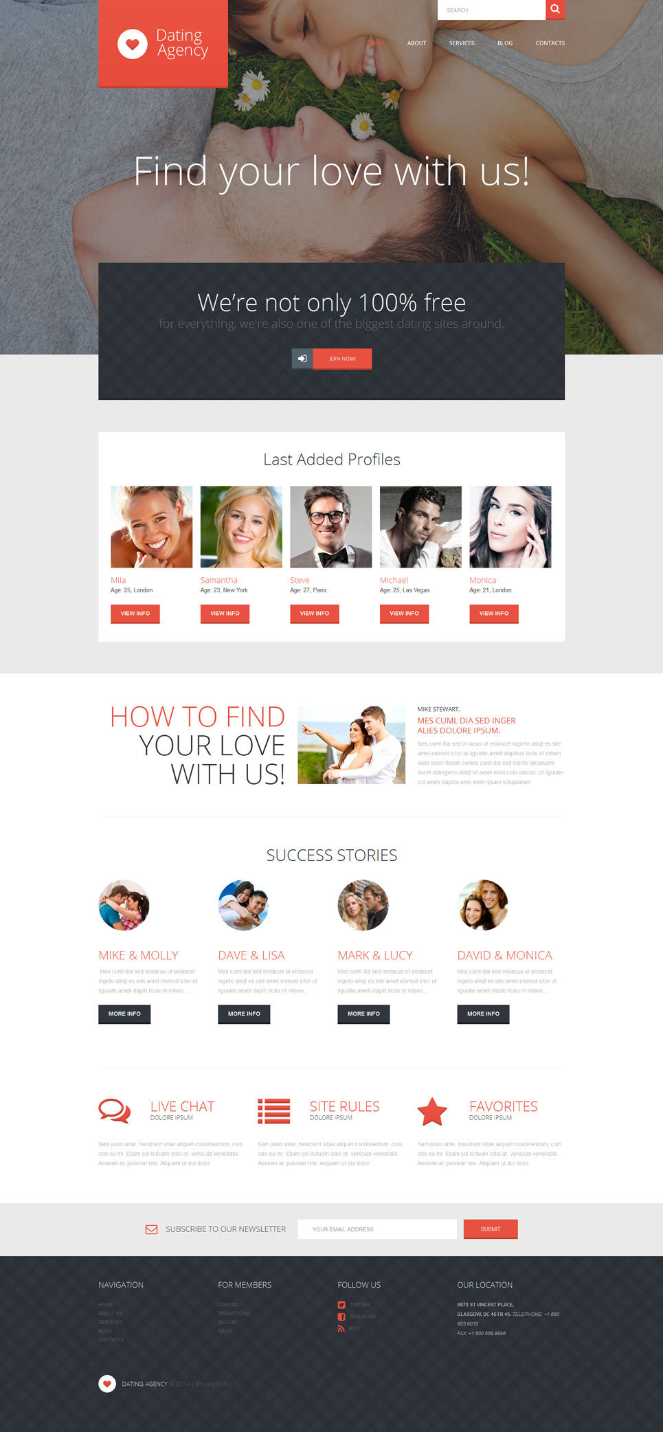 gratis matchmaking website templates