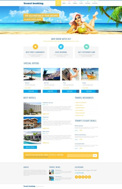 Airline Tickets Moto CMS HTML šablona