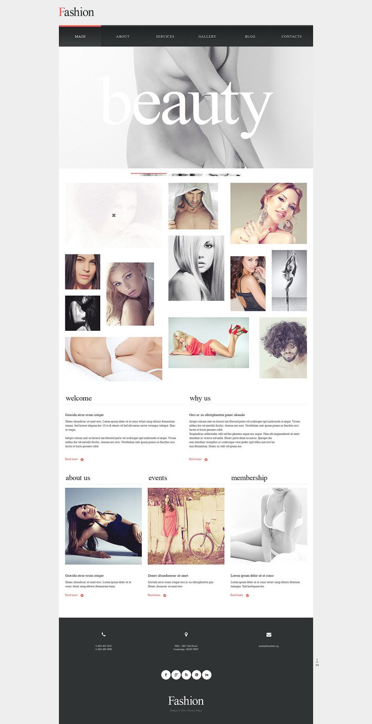 Model Portfolio Muse Template New Screenshots BIG