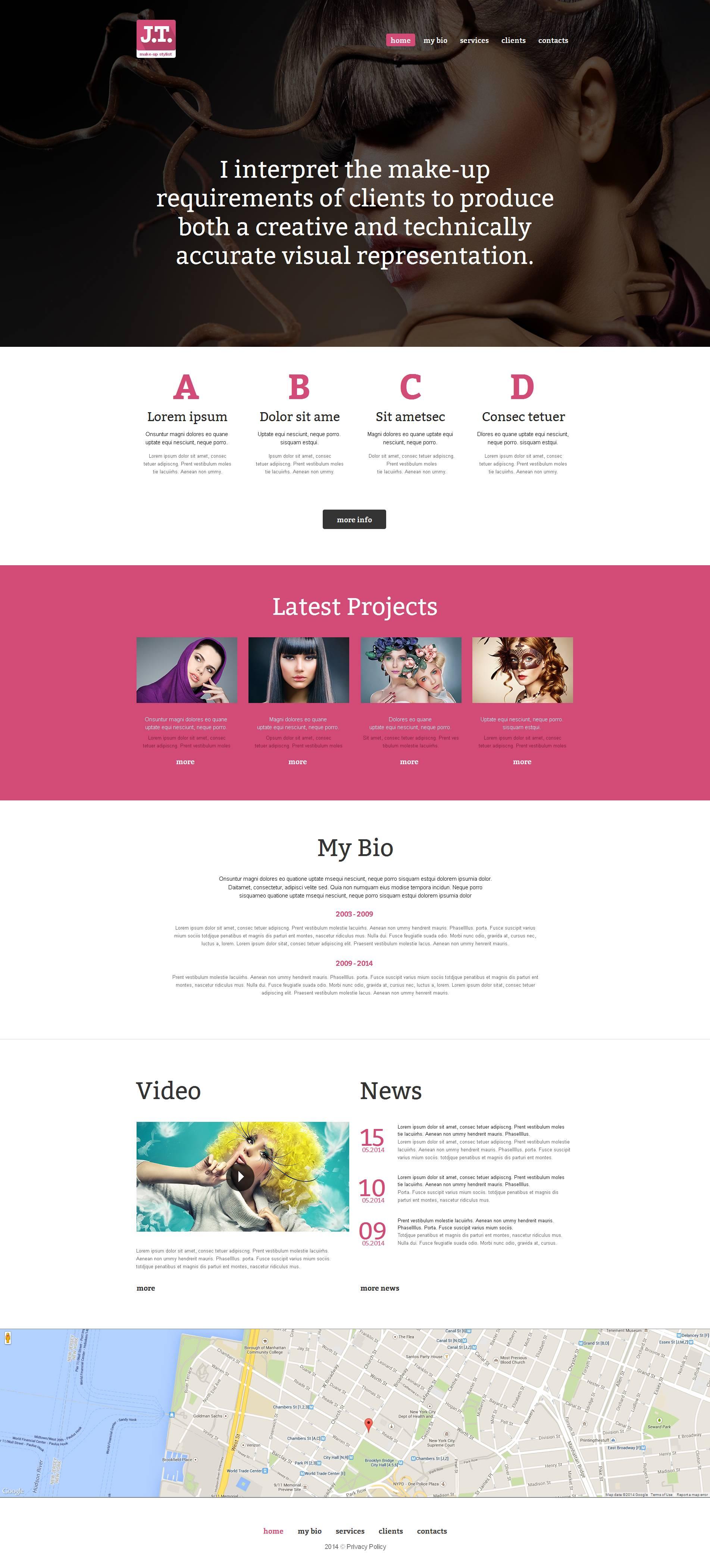 Modèle Moto CMS HTML Premium pour sites d'école de beauté #51942