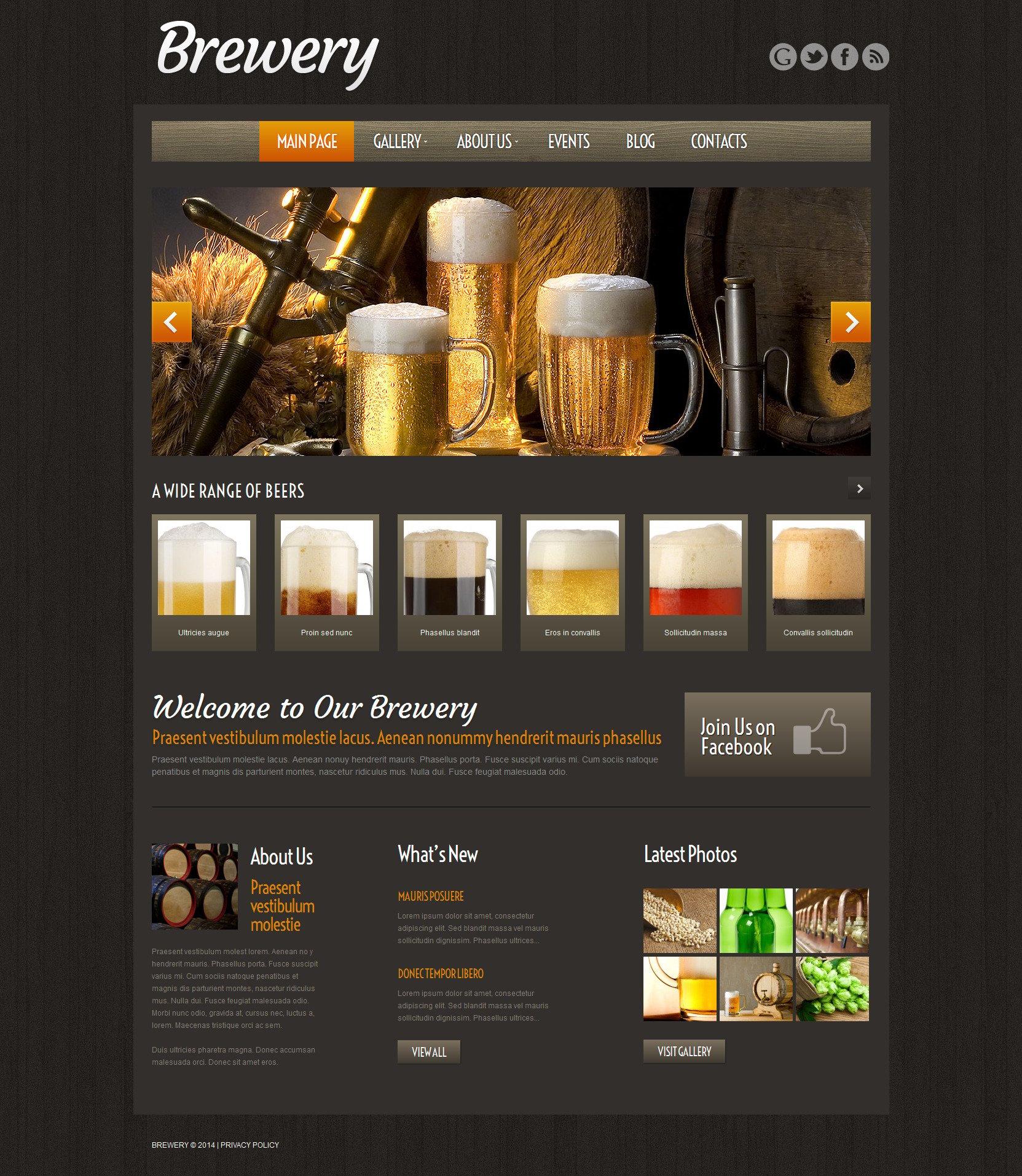 """Modello WordPress Responsive #51974 """"Craft Beer"""""""