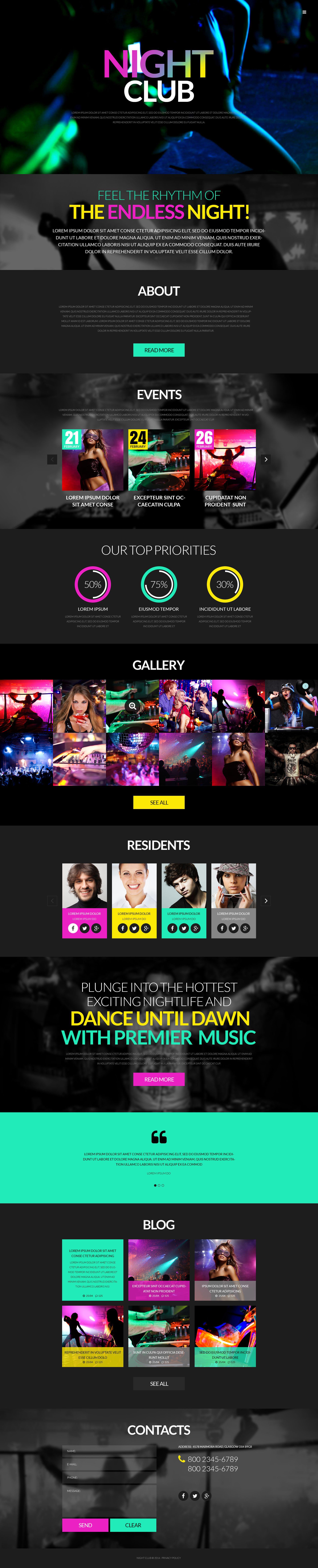 "Modello WordPress Responsive #51986 ""Party"" - screenshot"