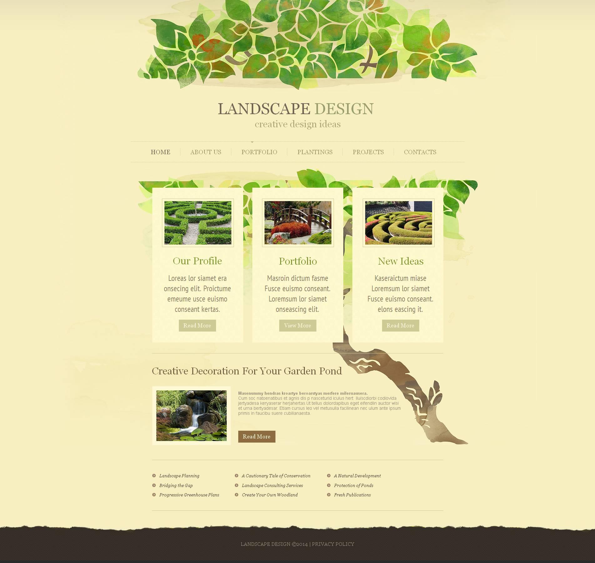Moto CMS HTML Vorlage für Landschaftsgestaltung #51939