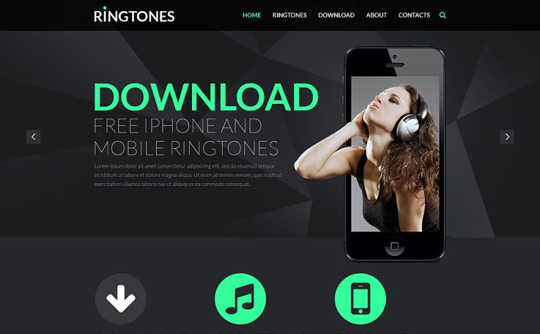 Music Store Responsive Website Template #51999