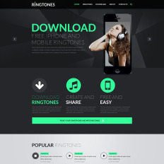 Mp3 store templates templatemonster music store responsive website template pronofoot35fo Image collections