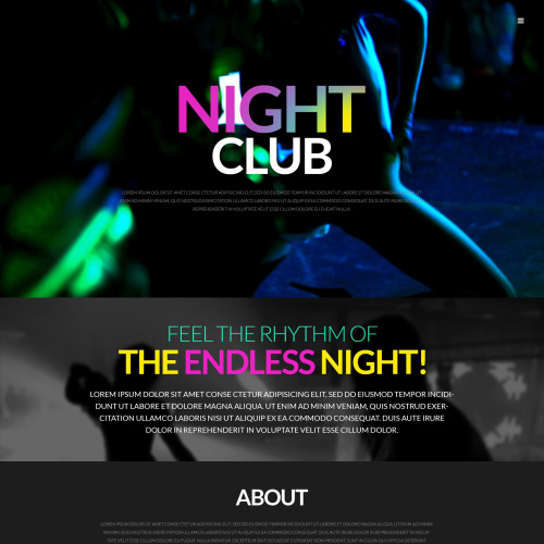Night Club - WordPress Template based on Bootstrap