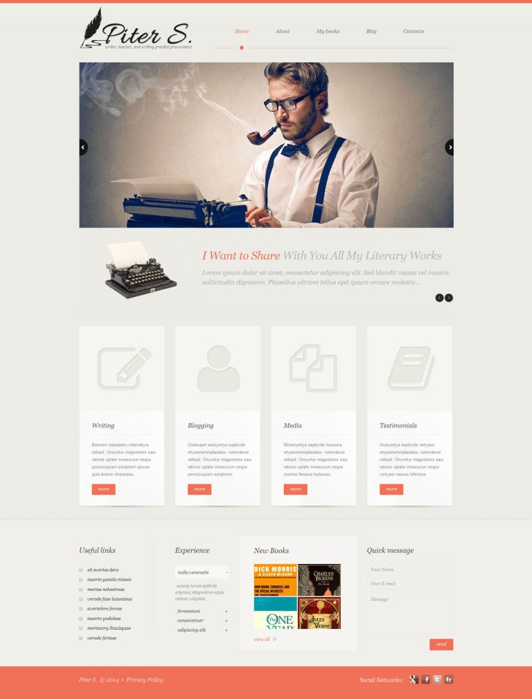 Personal Page Responsive WordPress Theme New Screenshots BIG